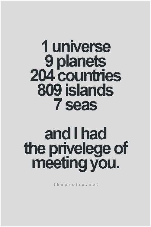 1 Universe 9 Planets Short Best Friend Quotes