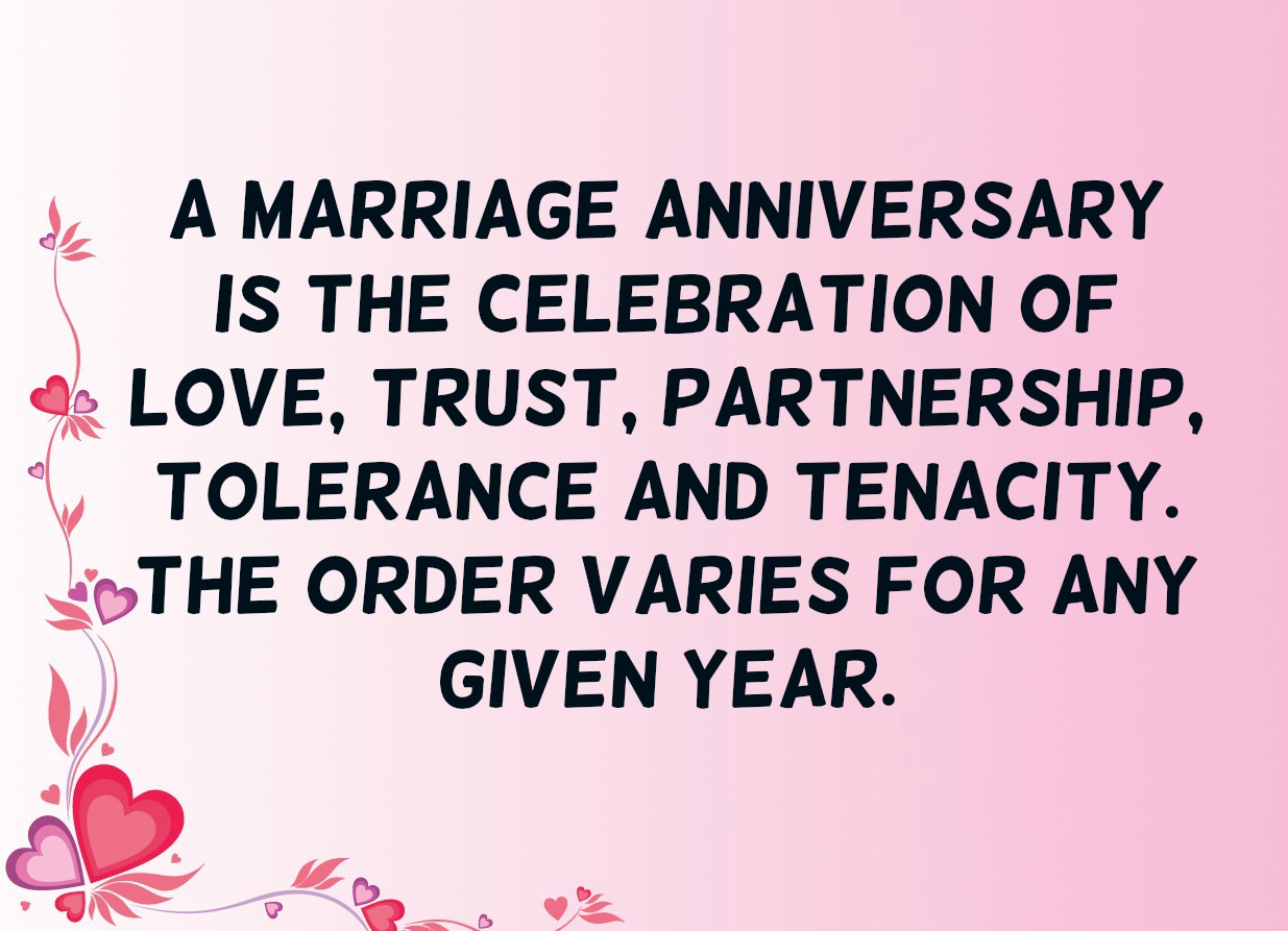 A Marriage Anniversary Is The Anniversary Quotes
