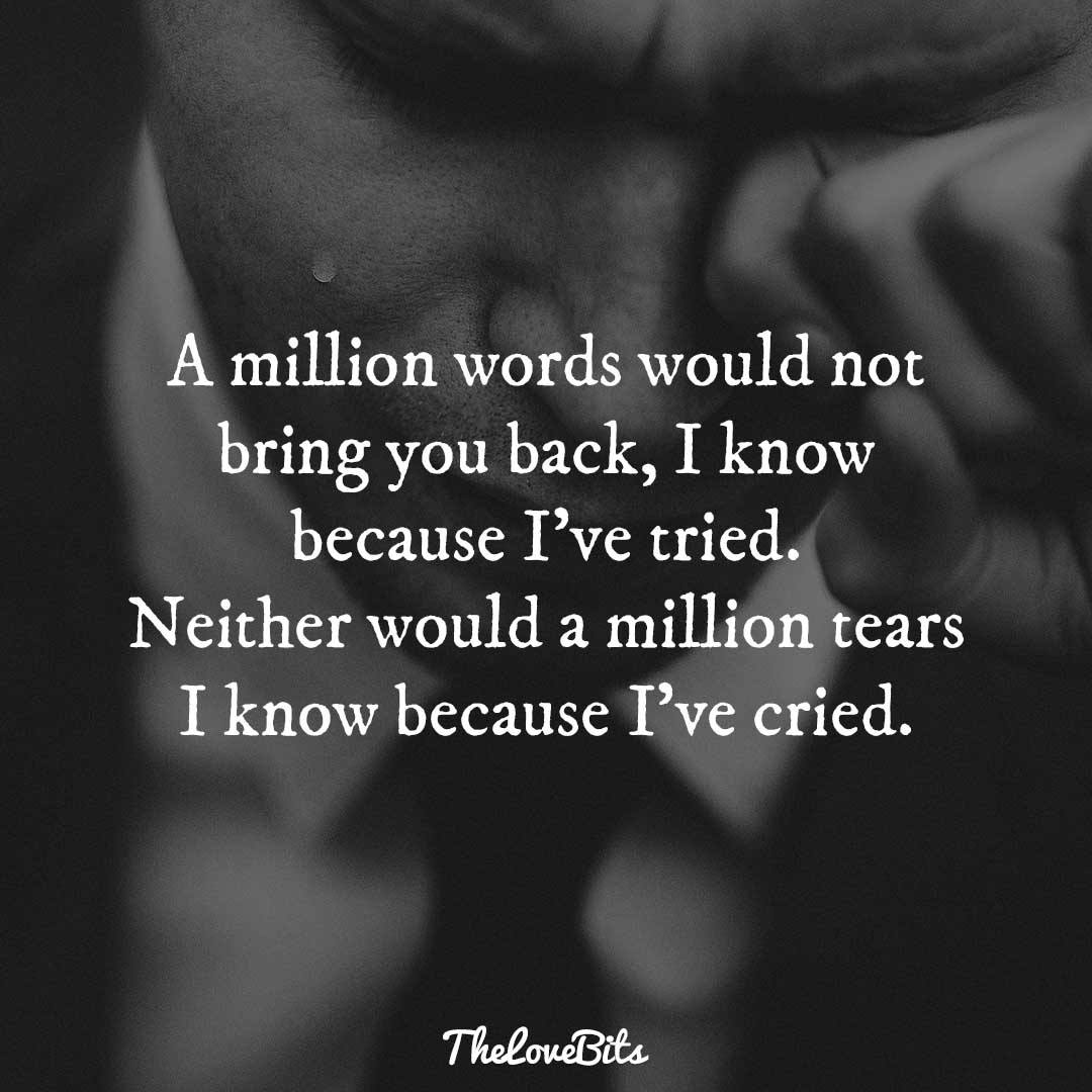 A Million Words Would Broken Heart Quotes