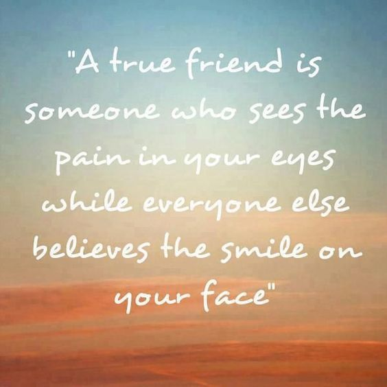 A True Friend Is Someone Who True Friendship Quotes
