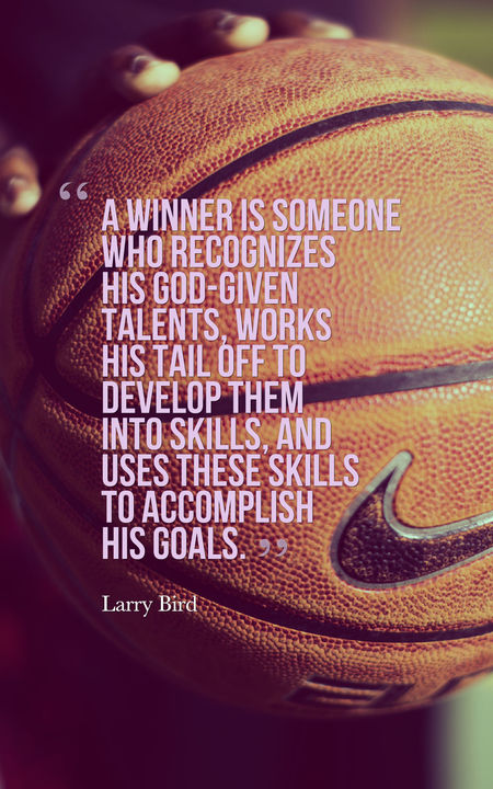 A Winner Is Someone Basketball Quotes