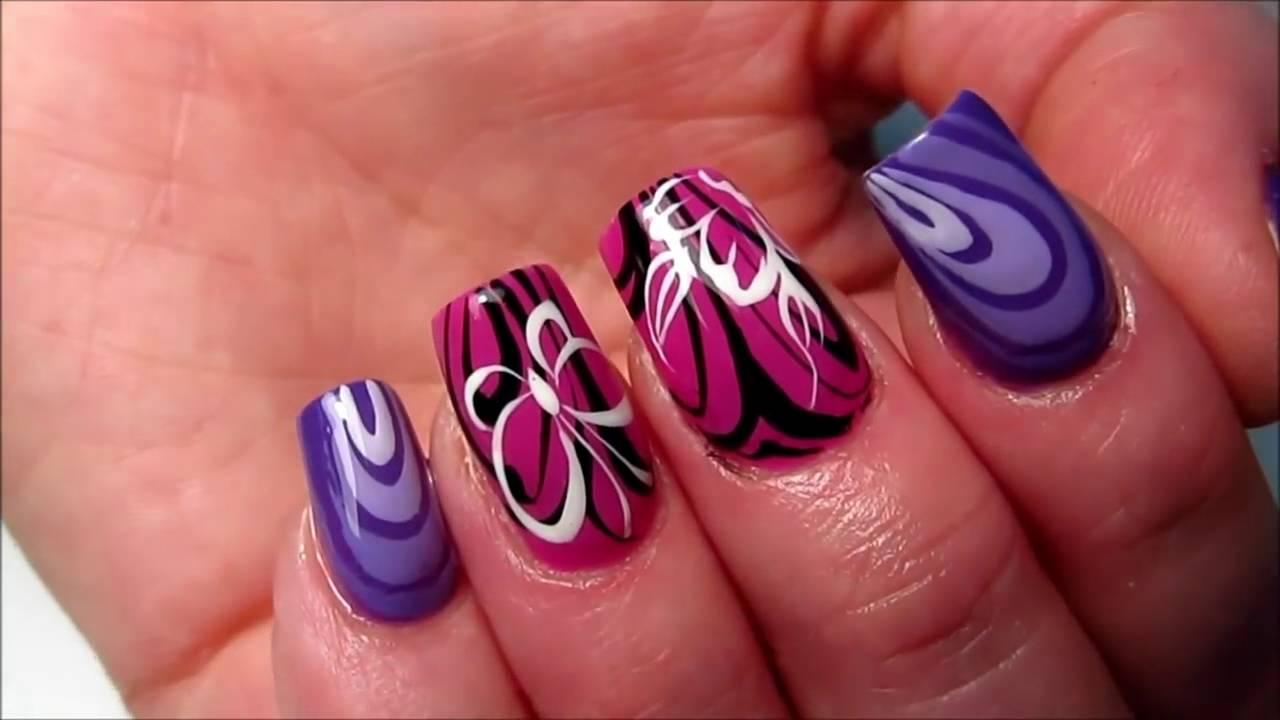 Amazing colorful print Classy nail art