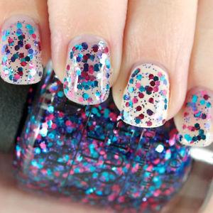 Amazing sparkling glitter Polka dots nail art