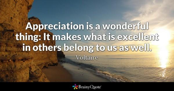 Appreciation Is A Wonderful Appreciation Quotes