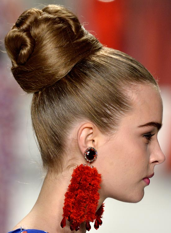 Attractive high tight Bun Hairstyle