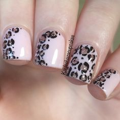 Attractive and side design Animal print nail art