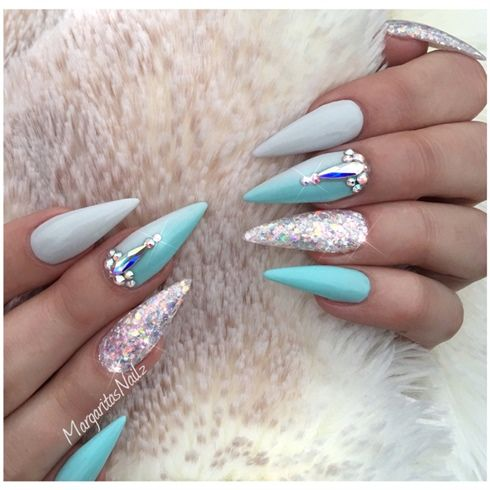 Attractive neon matte Edgy nail art