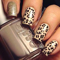 Awesome Animal print nail art