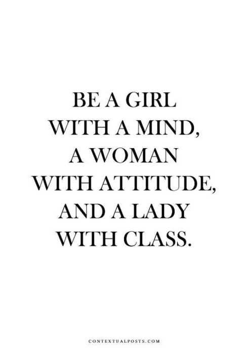 Be A Girl With A Mind Beauty Quotes