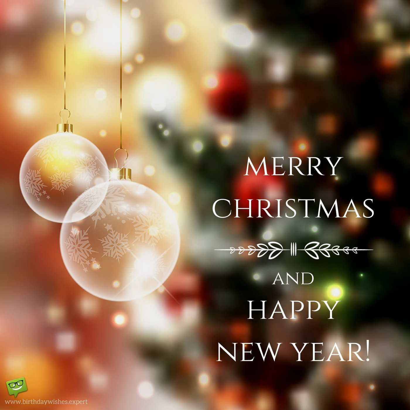 Beautiful Christmas And New Year Card