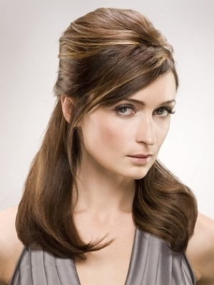 Beautiful back pinup medium Casual Hairstyle