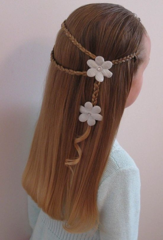 Beautiful braid style flower Kids Hairstyle