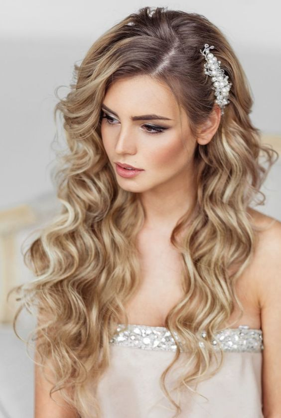 Beautiful long hair for bridal Curly Hairstyle