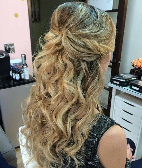 Beautiful long pinned style Layer Hairstyle