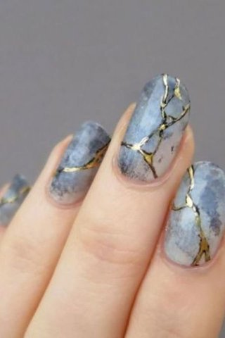 Beautiful print Marble nail art
