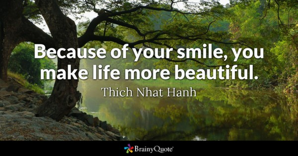 Because Of Your Smile Beautiful Quotes
