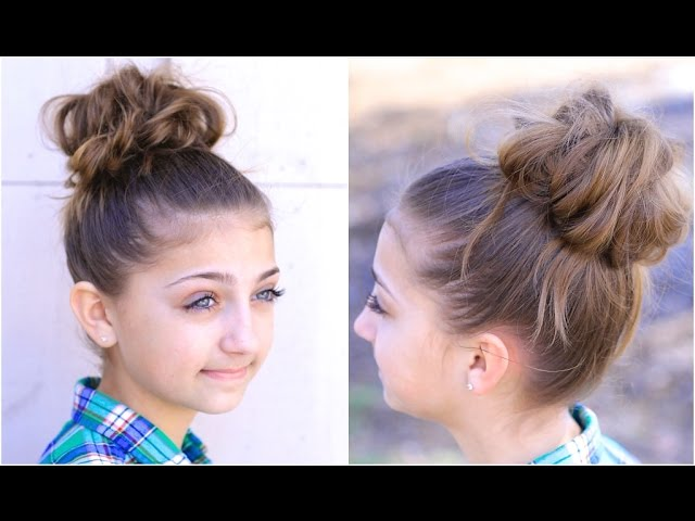 Best layer bun style Kids Hairstyle