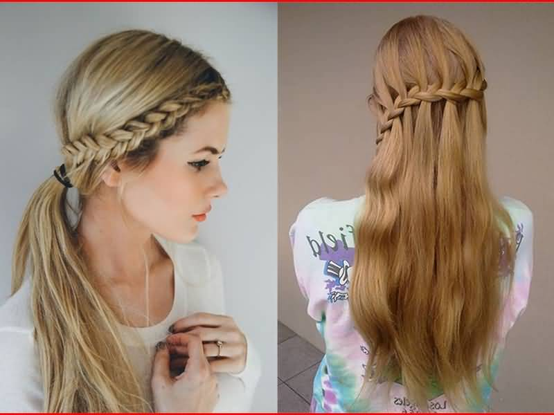 Best long braid style for teenage Layer Hairstyle