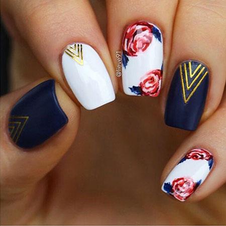 Best matte navy blue Classy nail art