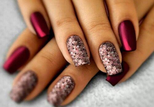 Best red romantic glitter Wedding nail art