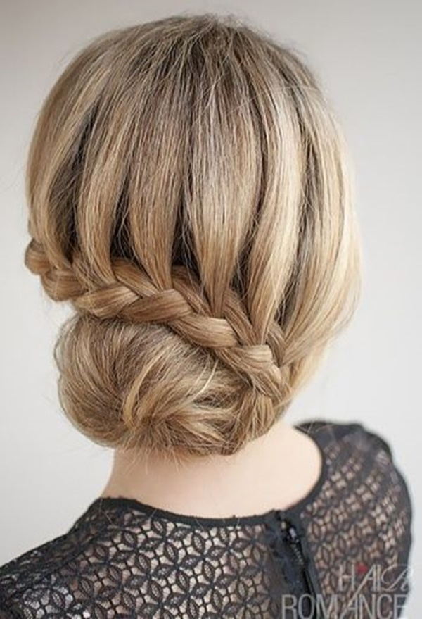 Catchy braid Bun Hairstyle