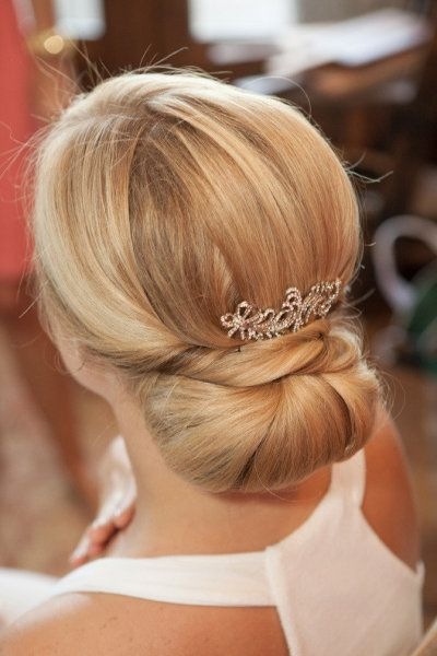 Charming party silky Bun Hairstyle
