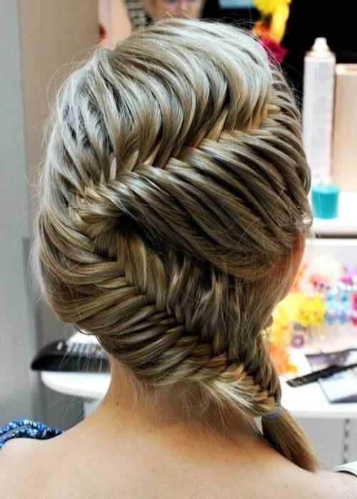 Classic fishtail Braid Hairstyle