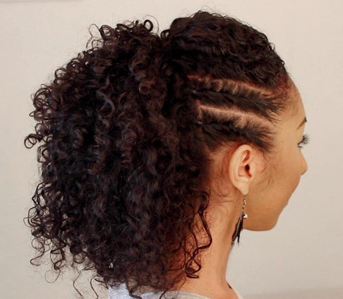 Cool braid ponytail Curly Hairstyle