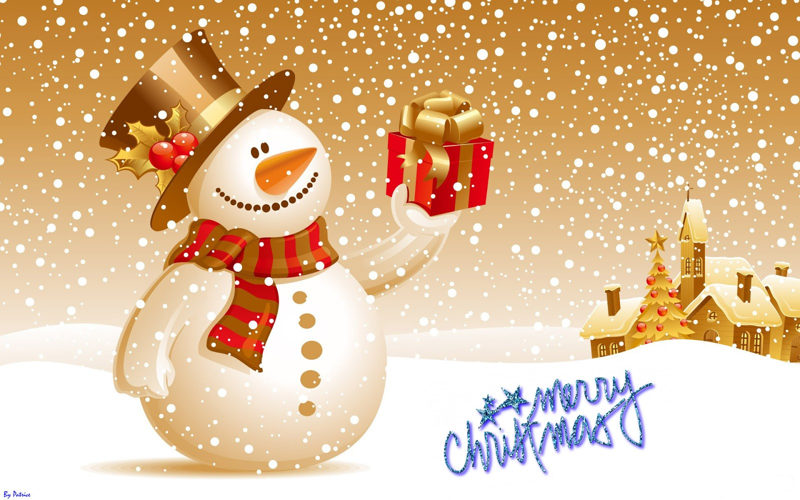 Cute Snow Man HD Christmas Wishes