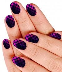Cute blue design pattern Tiles nail art