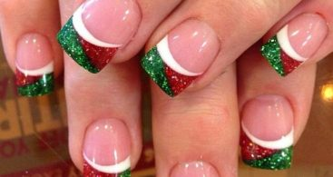 Cute color gel Christmas nail art