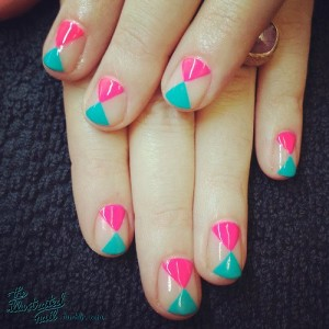 Cute time piece Contrast nail art