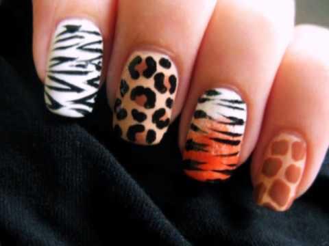 Diff design Animal print nail art