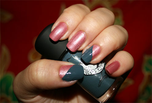 Easy nail Color blocking nail art