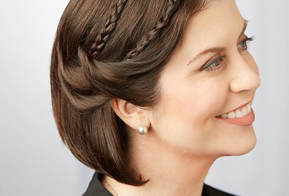 Easy short hair Braid Hairstyle