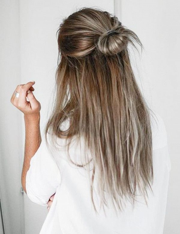 Easy white brown Bun Hairstyle