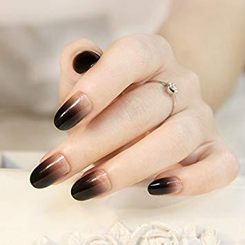 elegant black white gel ombre nail art  preet kamal