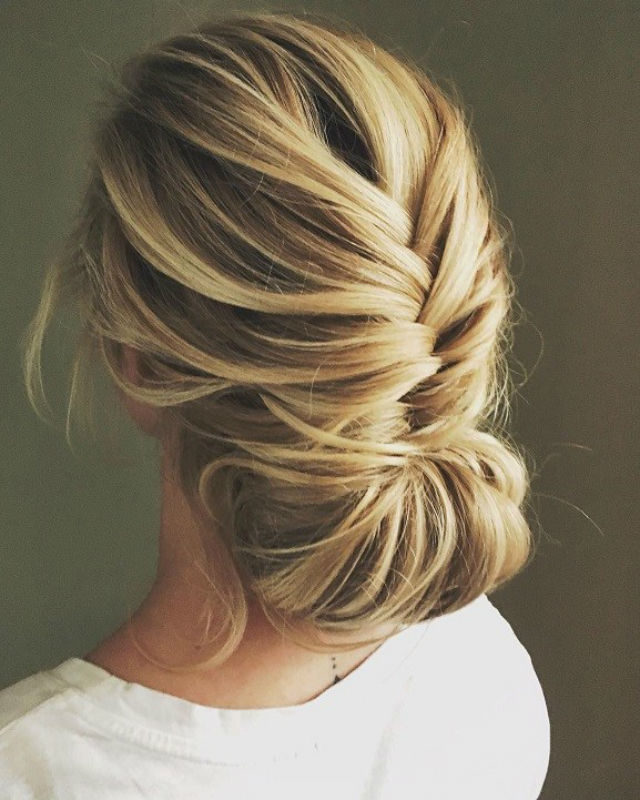 Elegant brown Bun Hairstyle