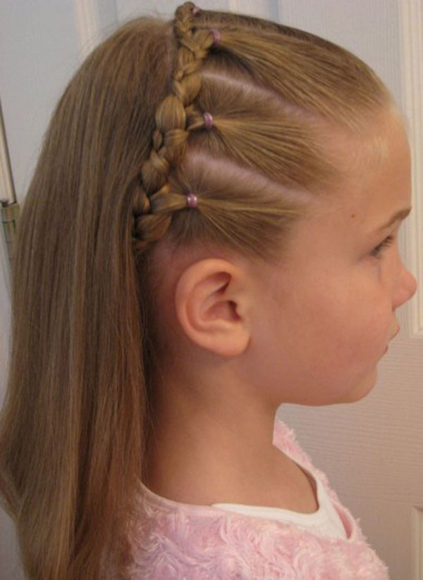 Elegant front style Kids Hairstyle