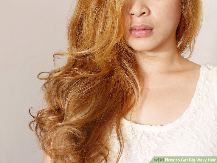 Elegant golden hair wave Curly Hairstyle
