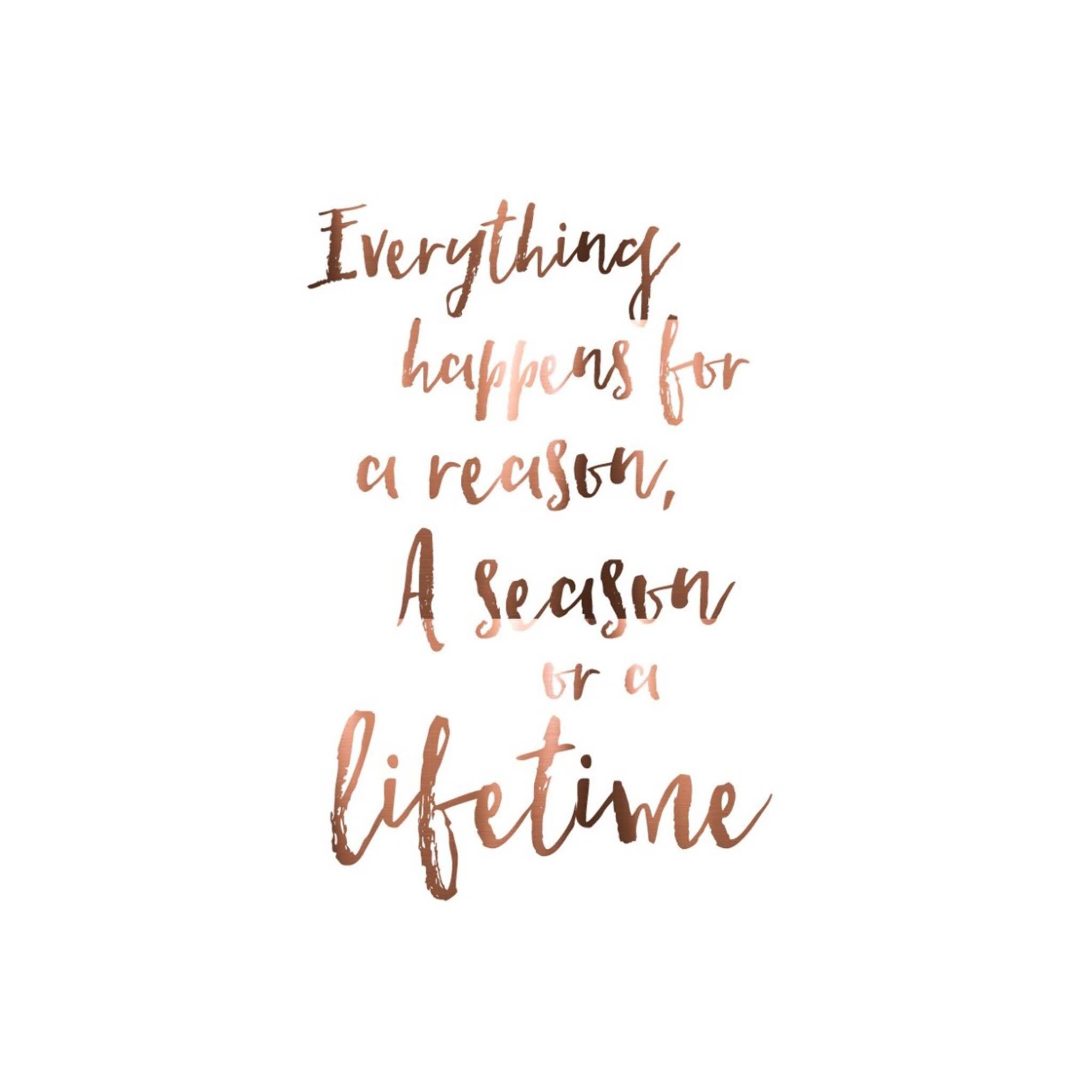 Everything Happens For A Cute Quotes