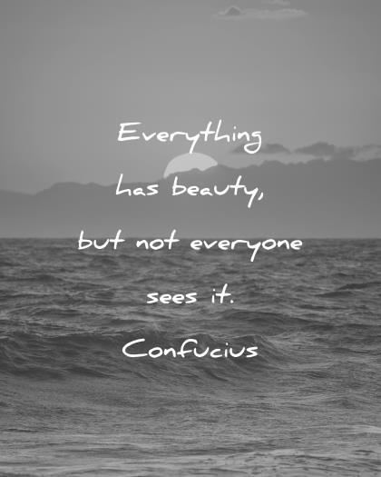 Everything Has Beauty But Beautiful Quotes