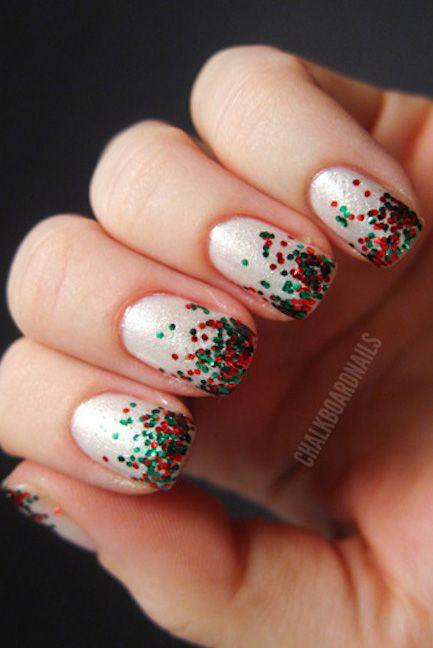 Fabulous Glitter Christmas nail art