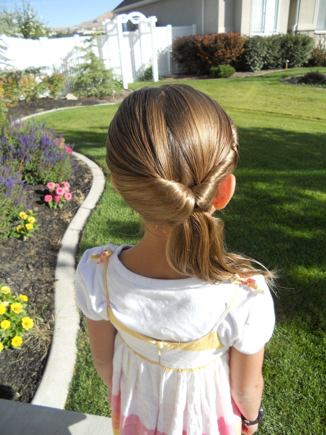 Fabulous back pony style Kids Hairstyle