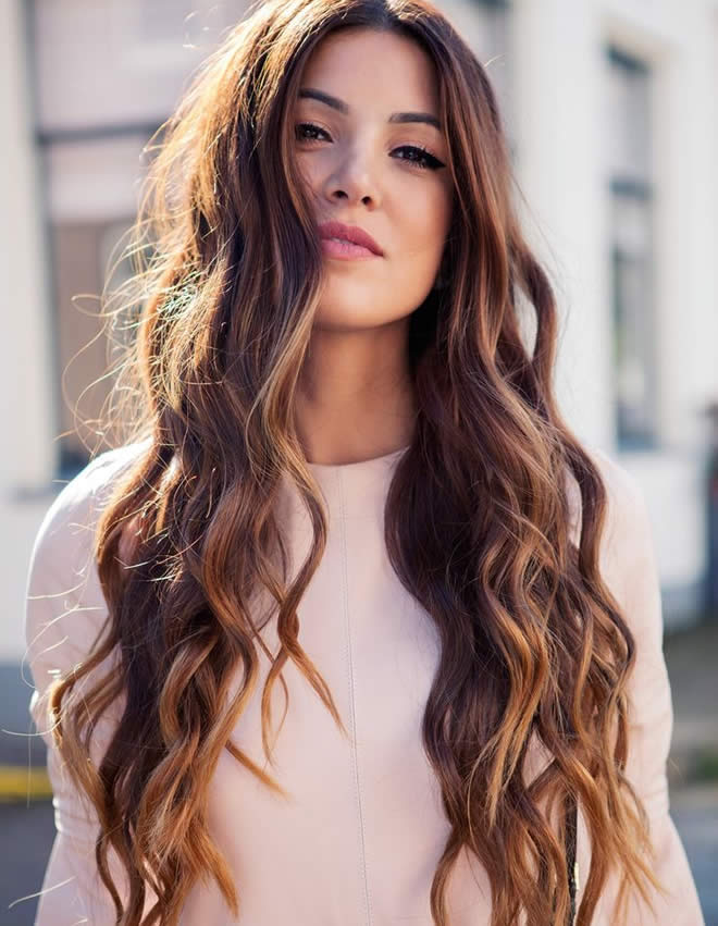 Fabulous thick long style for girls Curly Hairstyle
