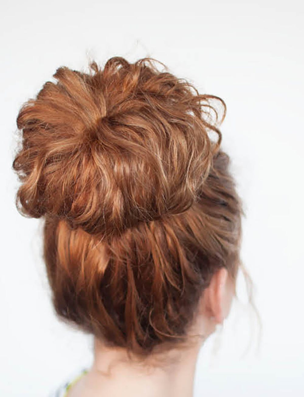 Fancy curly Bun Hairstyle