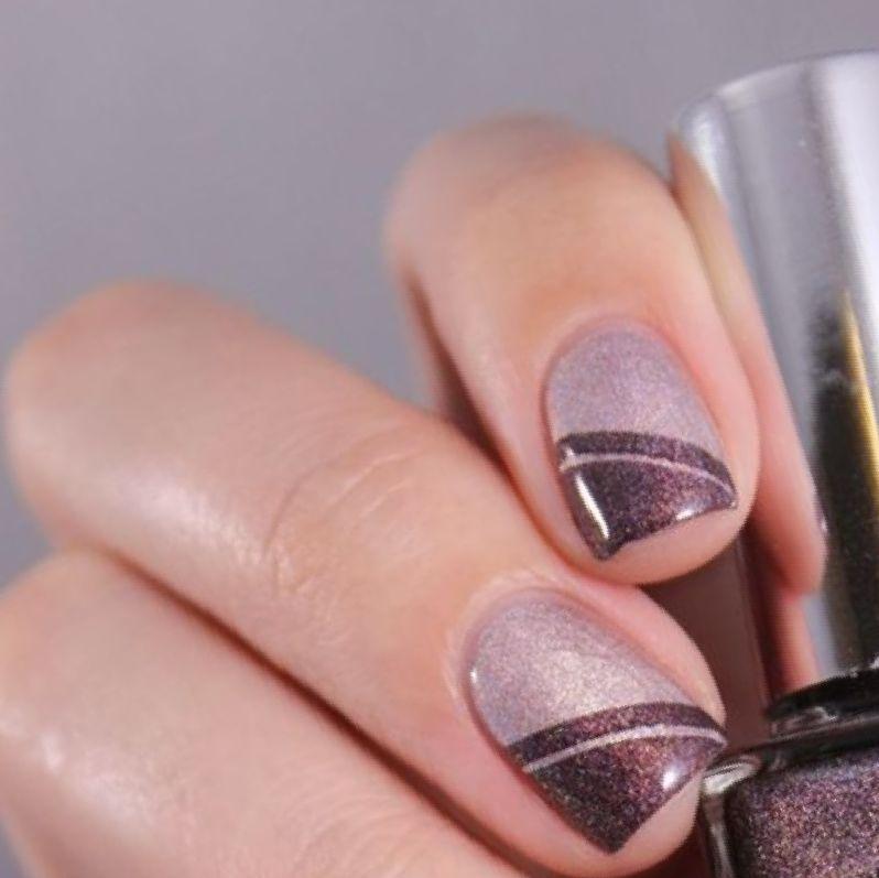 Fantastic glitter gel Classy nail art