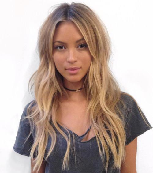 Fantastic long simple Casual Hairstyle
