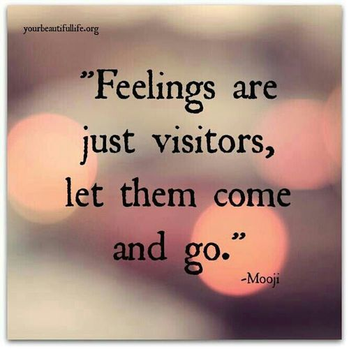 Feelings Are Just Visitors Best Quotes