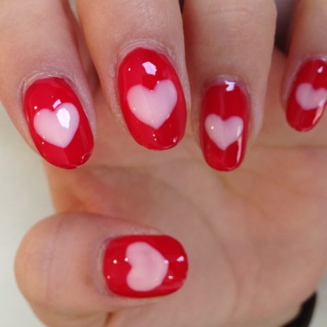Fancy girlish Heart nail art
